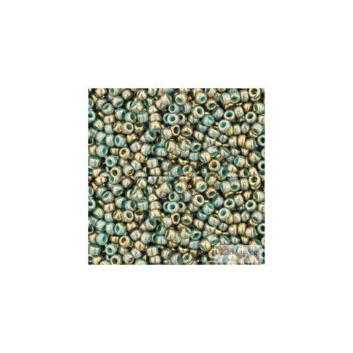 1703 - Gilded Marble Turquoise - 10 g - 11/0 Toho kásagyöngy