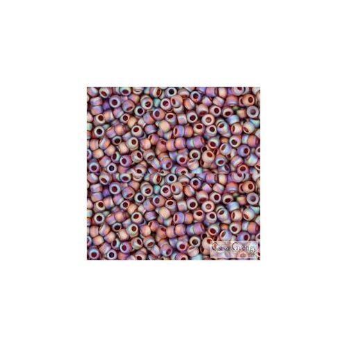 Transp. Rainbow Frosted Smoky Topaz - 10 g - 11/0 Toho kásagyöngy (177F)