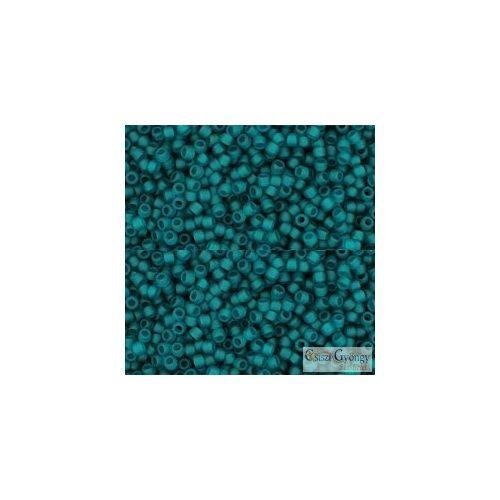 Transparent Frosted Teal - 5 g - 15/0 Toho japán kásagyöngy (7BDF)