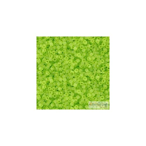 Transparent Frosted Lime Green - 5 g - Toho japán kásagyöngy 15/0 (4F)