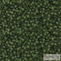 Transparent Frosted Olivine - 5 g - 15/0 Toho japán kásagyöngy (940F)