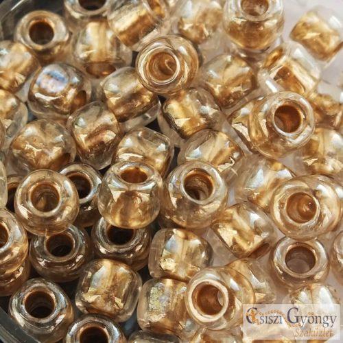 Gold Lined Crystal - 10 g - 3/0 Toho kásagyöngy (989)