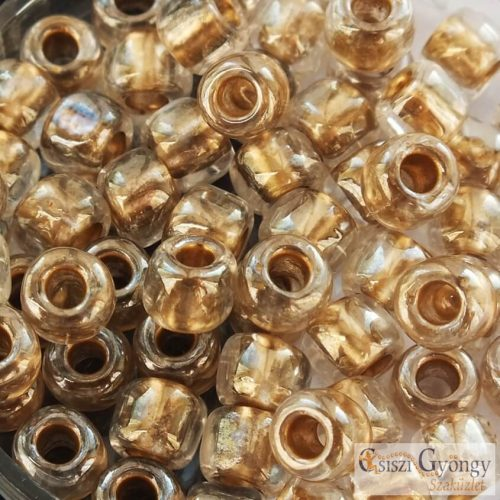 989 - Gold Lined Crystal - 10 g - 3/0 Toho kásagyöngy