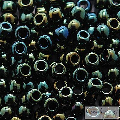 Metallic Iris Green Brown - 10 g - 6/0 Toho japán kásagyöngy (84)