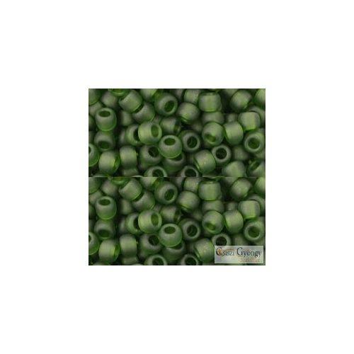 Transparent Frosted Olivine - 10 g - 6/0 Toho japán kásagyöngy (940F)