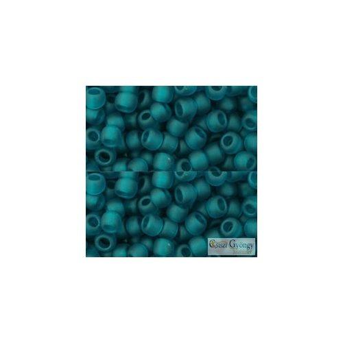 Transparent Frosted Teal - 10 g - 6/0 Toho japán kásagyöngy (7BDF)