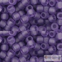 Transparent Frosted Sugar Plum - 10 g - 6/0 Toho Seed Beads (19F)