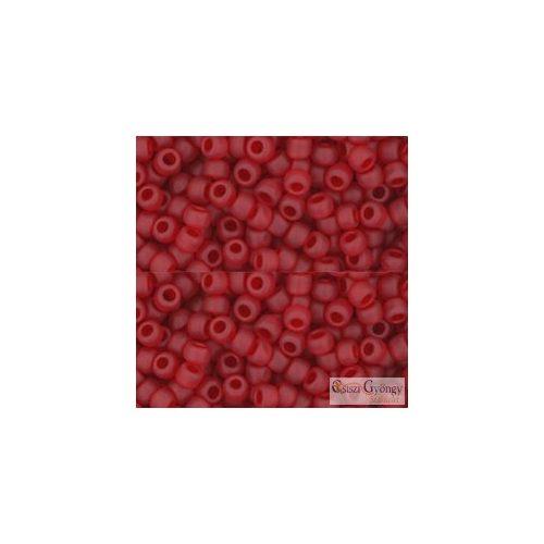 Transparent Frosted Siam Ruby - 10 g - 8/0 Toho japán kásagyöngy (5BF)