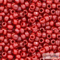 Opaque Lustered Cherry - 10 g - 8/0 Toho japán kásagyöngy (125)