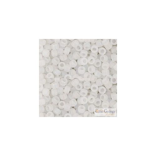 Transparent Rainbow Frosted Crystal - 10 g - 8/0 Toho japán kásagyöngy (161F)