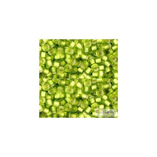 Silver Lined Frosted Lime Green - 10 g - 8/0 Toho japán kásagyöngy (24F)