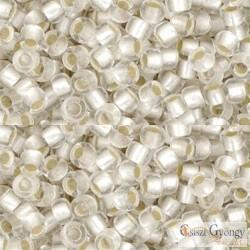 Silver Lined Frosted Crystal - 10 g -8/0 Toho japán kásagyöngy  (21F)