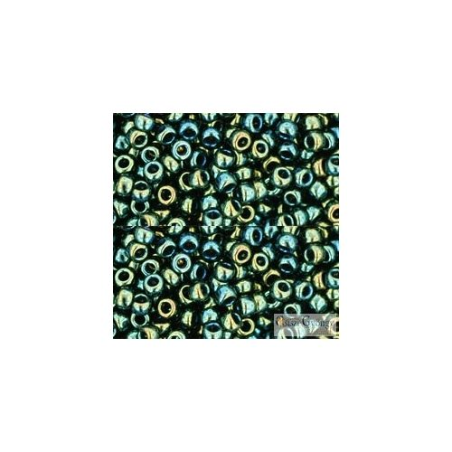 Met. Iris Green Brown - 10 g - 8/0 Toho japán kásagyöngy (84)