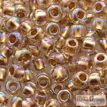 Gold-Lined Rainbow Crystal - 10 g - 8/0 Toho japán kásagyöngy (994)