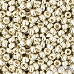 Perm. Finish Galv. Aluminium - 10 g - 8/0 Toho japán kásagyöngy (PF558)