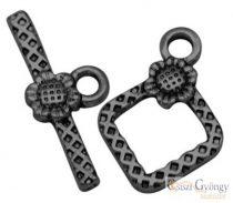 Napraforgós T-kapocs -1 db - metál fekete színű, mérete: 20 mm (Nickel, Lead Cadmium Free)