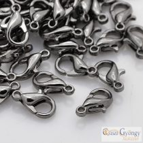 Lobster Claw Clasps - 10 pc. - gunmetal color, size: 16x8 mm, hole: 2mm