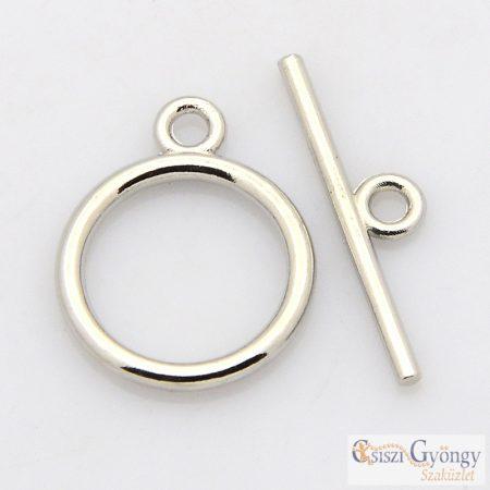 Egyszerű T-kapocs - 1 db - ezüst színű, mérete: 15 mm (cadmium, ólom és nikkel mentes)