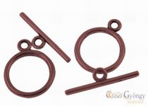 Toggle Clasp - 1 pc. - bronze color, size: ca. 15 mm (Nickel, Cadmium and Lead Free)