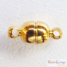 Pici mágneskapocs - 1 db - arany színű, 5 mm