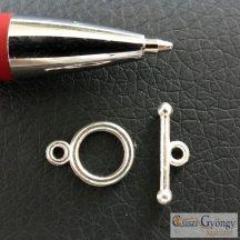 Pici T-kapocs - 1 db - ezüst színű, mérete: 14mm