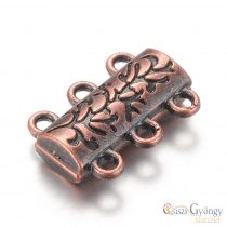 Alloy Magnetic Clasps - 1 pcs - red copper color, size: 14x19 mm