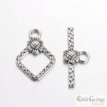 Toggle Clasp - 1 pcs. - silver color, size: ca. 21 mm
