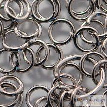 Szerelőkarika mix - 15 g - ezüst színű, mérete: 4-10 mm