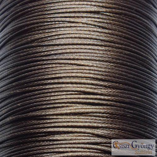 Csokoládé barna - 1 méter - kordszál, szálvastagság: 1 mm
