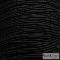 Fekete - 1 méter - kordszál, 1 mm vastag