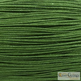 Olive - 1 meter - waxed coton cords, size: 1mm