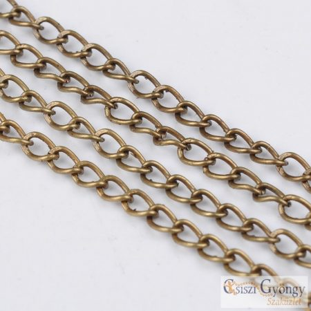 Iron Twist Chains Antique Bronze Color - 50 cm - unwelded, chains size: 2x3mm