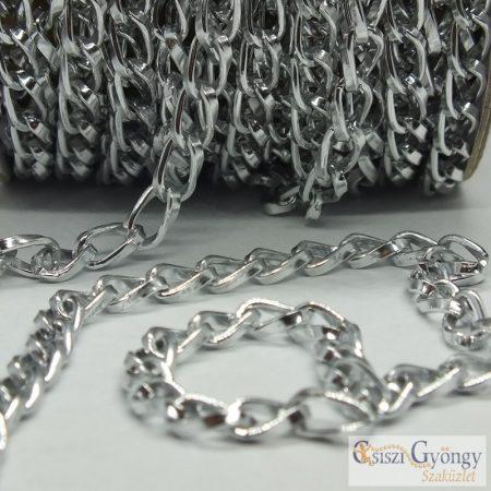 Aluminium Chain - 20 cm - bright silver color, 9,3x5,3 mm
