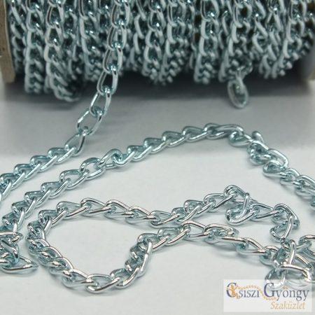 Aluminium Chain - 20 cm - bright ice blue color, size: 6x3 mm