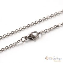 304 Stainless Steel Chain with Clasp - 1 pcs. - kb. 45 cm long