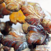 Herbstblatt - 1 Stück - Tschechische Glasperle, Grösse: 16x14 mm