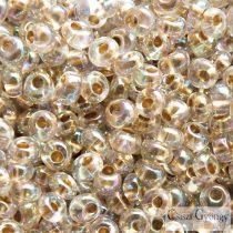 Gold Lined Rainbow Crystal - 10 g - Toho Magatama Perlen, 3 mm (994)