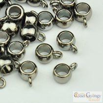 Medálakasztó - 10 db - metál fekete színű, 9x4x6mm (Nikkel, kadmium és ólom mentes)