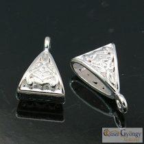 Tibetan Silver Hangers - 10 pcs. - silver color, 15x10 mm