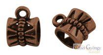 Masnis medálakasztó - 10 db - antik bronz színű, mérete: 11x6 mm (nikkel, kadmium és ólom mentes)