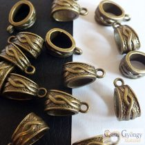 Tibetan Style Hanger - 10 pcs. - antique bronze color, size: ca. 14x9 mm