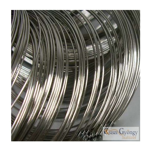 Steel Barcelet Memory Wire, 5.5 cm, Wire: 0.6 mm - 10 circles