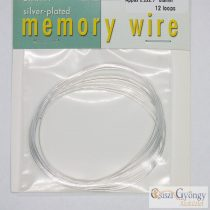 "Memory Wire, bracelet, silver-plated, oval, 12 loops, 2.2x2.7"" diameter"