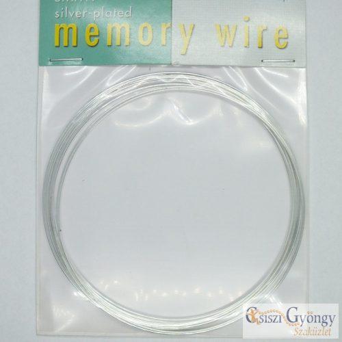 Nyaklánc alap, ezüst színű memória drót, 12 karika, átmérő: 9,1 cm