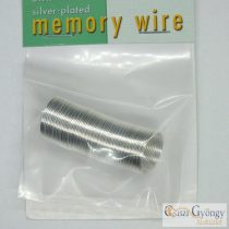 Memory Wire Ring, 48 Turns, silver-plated, 3/4""