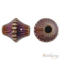 Diamond színváltó akril gyöngy, méret: 14x16mm - 1 db