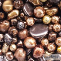 Gold Brown Pearl - 20 g - Czech Glass Pearl Beadmix