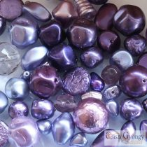 Purple - 20 g - Tscheche Glasswachs Perlen Mix