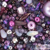 Csiszi Beadmix: Purple - 20 g - Czech Glass Beads