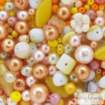 Csiszi Gyöngymix: sárga - 20 g - cseh üveggyöngyök